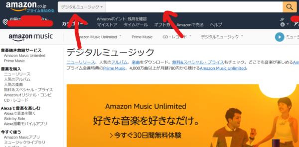 Amazon検索画面